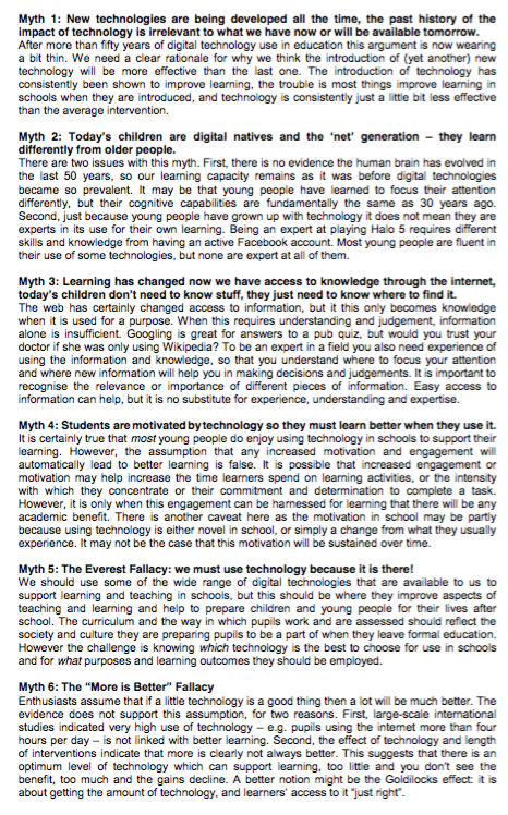 Postscript from The Impact of Digital Technology on Learning https://v1.educationendowmentfoundation.org.uk/uploads/pdf/The_Impact_of_Digital_Technology_on_Learning_-_Executive_Summary_(2012).pdf